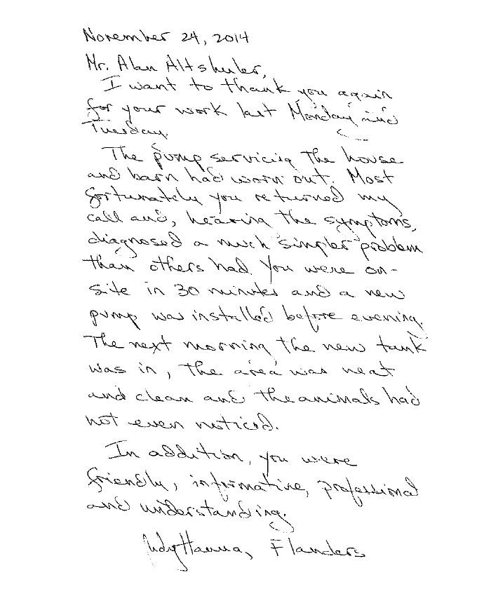 Flanders Testimonial