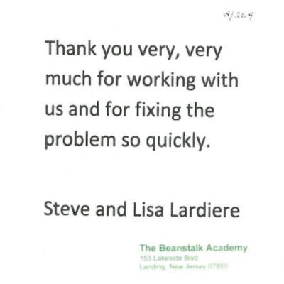 The Beanstalk Academy Testimonial