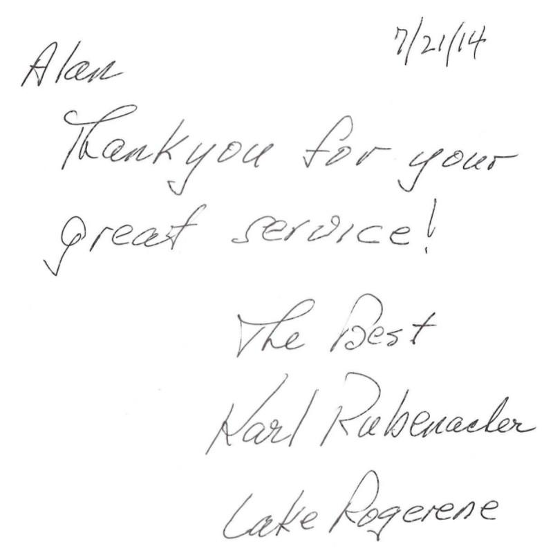 Karl Rubenasher Testimonial